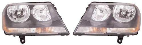 Go-Parts - PAIR/SET - for 2008 - 2014 Dodge Avenger Headlights Assembly Front (RT Model) - Left & Right (Driver & Passenger) CH2503194 CH2502194 5303744AD 5303745AD Replacement 2009 2010 2011 2012