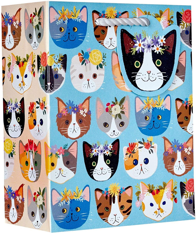 Jillson & Roberts Small Gift Bags, Kitty Cats (120 Pcs)