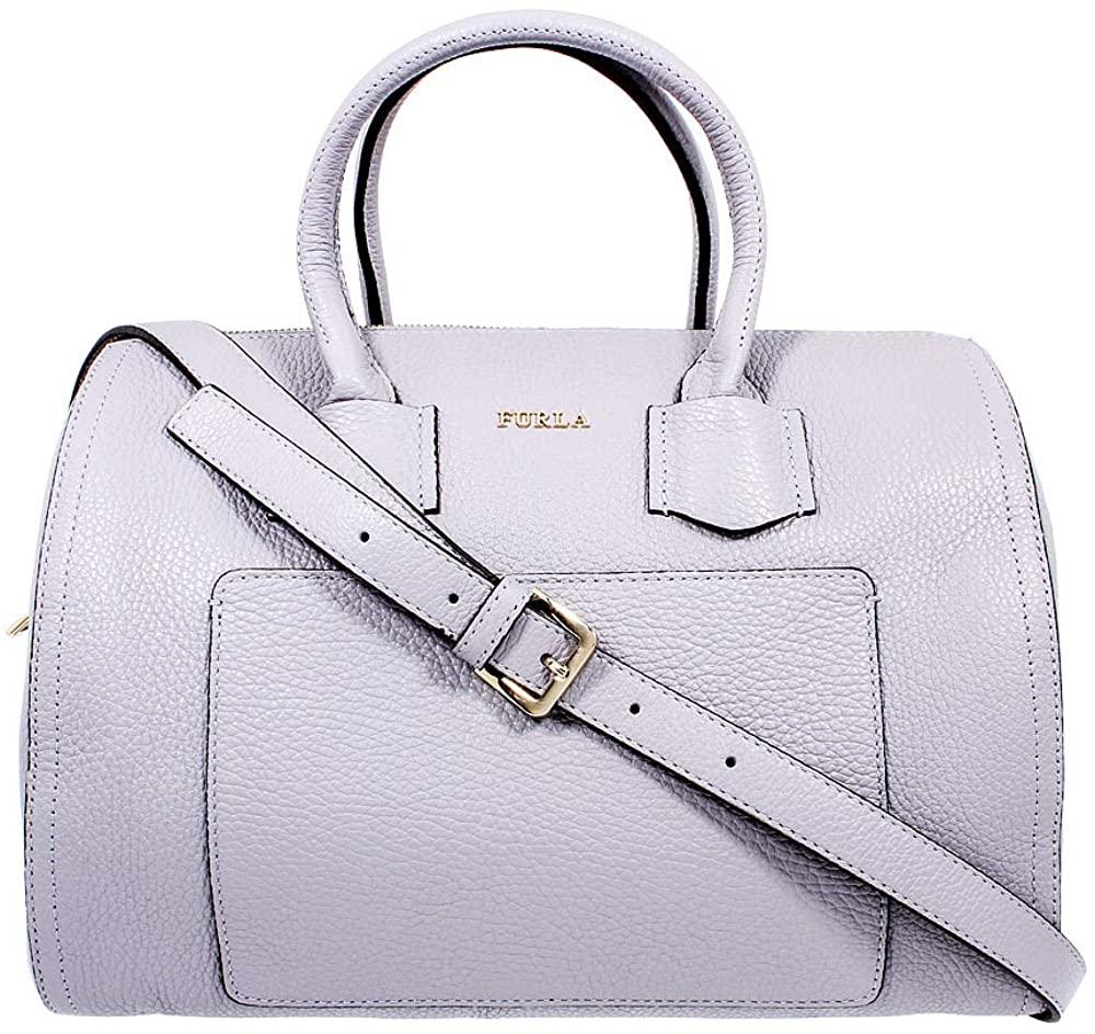 Furla Alba Ladies Medium Gray Onice Leather Satchel 984391