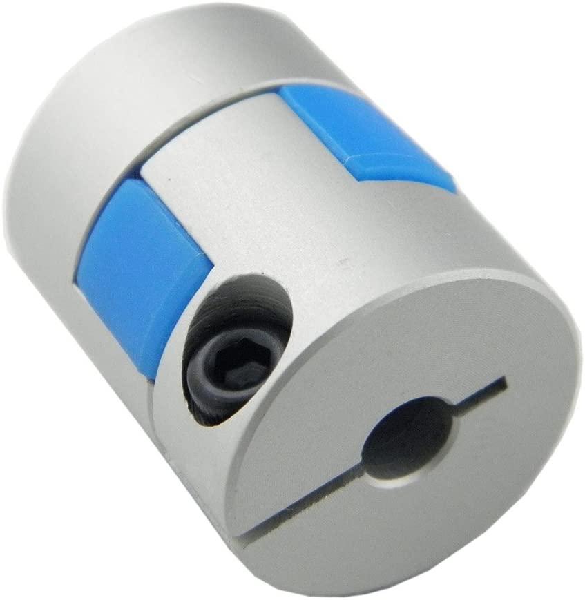 High Strength Flexiable Coupling Aluminium Alloy Plum Model Motor Shaft Coupler D20L25 with Inner Diameter 5mm