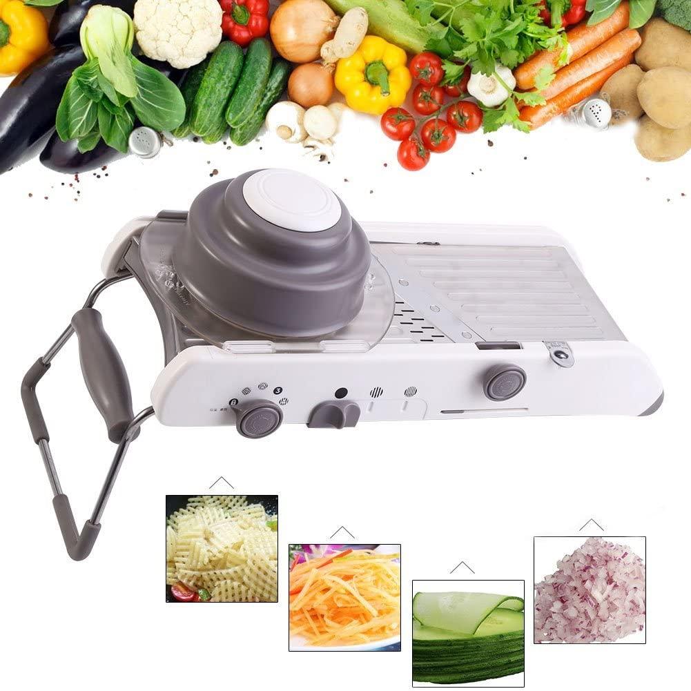 Yosoo Multi-Functional Vegetable Slicer Titanium Alloy Adjustable Fruit Peeler Professional Kitchen Food Cutter Tool