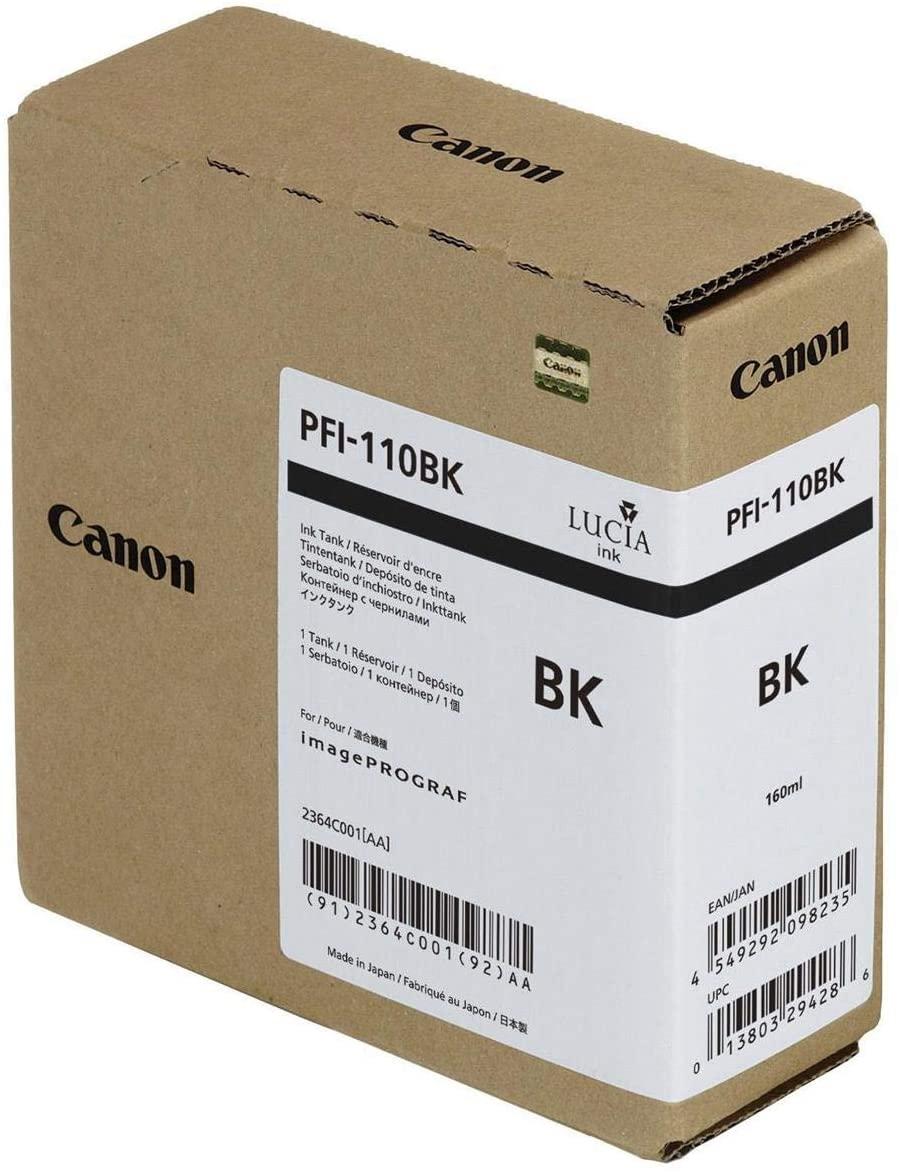 Genuine Canon Ink Tank PFI-110BK - Black 160ml - 2364C001AA