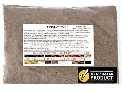 Finally Hair Fibers Refill Bag - 56 Grams of Premium Hair Loss Concealer in a Refill Bag (Light Salt & Pepper)