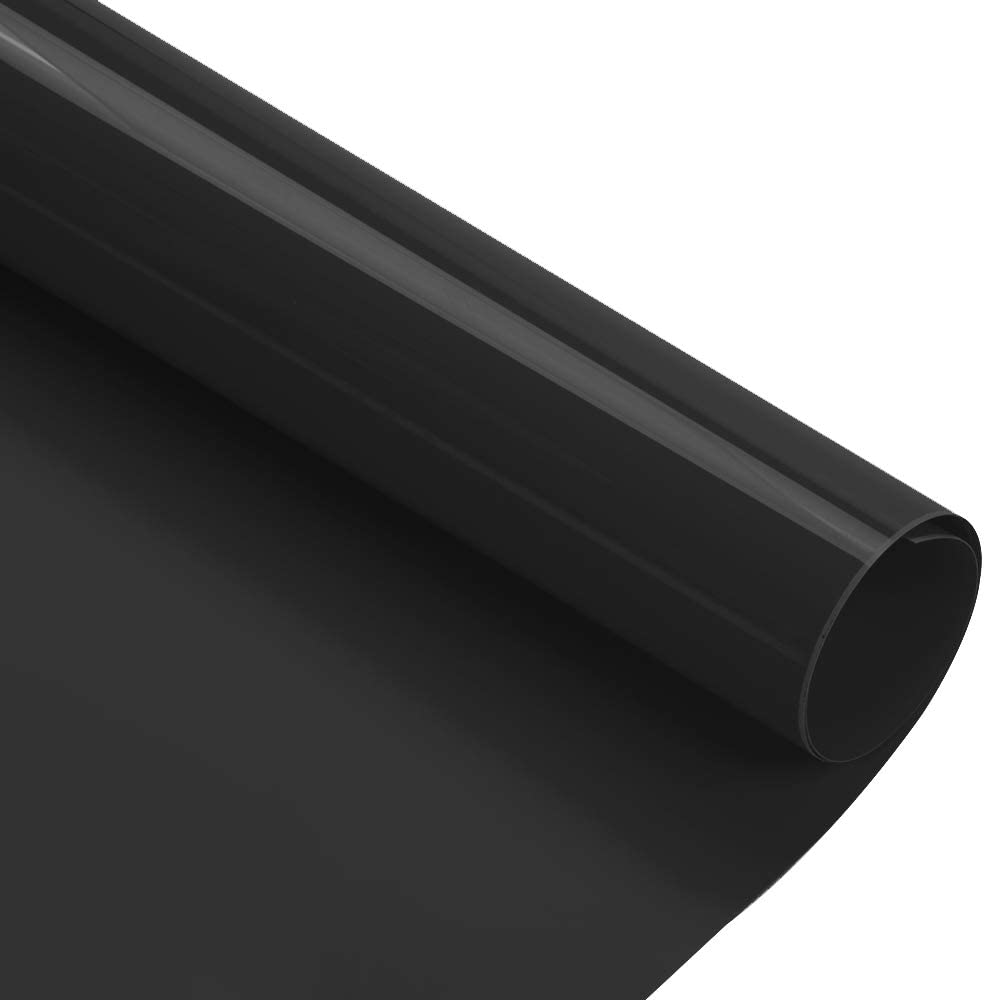 Kenteer 12x5ft Heat Transfer Vinyl Roll, Iron on HTV Compatible with Cricut Easy to Cut & Weed, HTV Iron on Vinyl for DIY T-Shirts Garments Bags and Other Fabrics(Black)