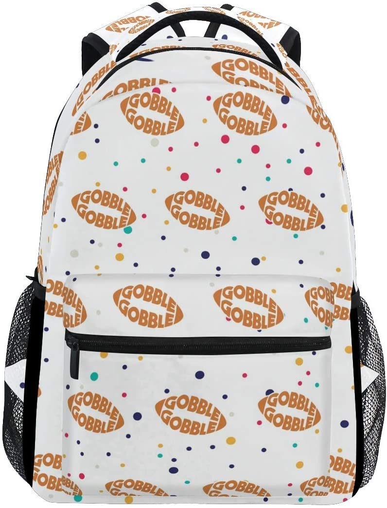 Stylish Football Gobble Backpack- Lightweight School College Travel Bags, ChunBB 16 x 11.5 x 8