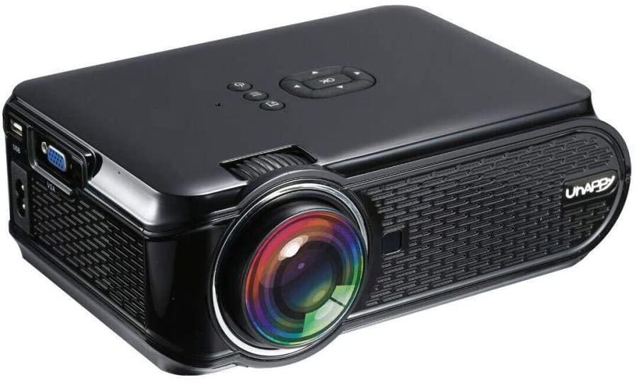 Overhead Projector, 4K 3D 1080P HD LED Mini Projectors Home Theater Cinema Video Games HDMI USB VGA,Black,AU Plug