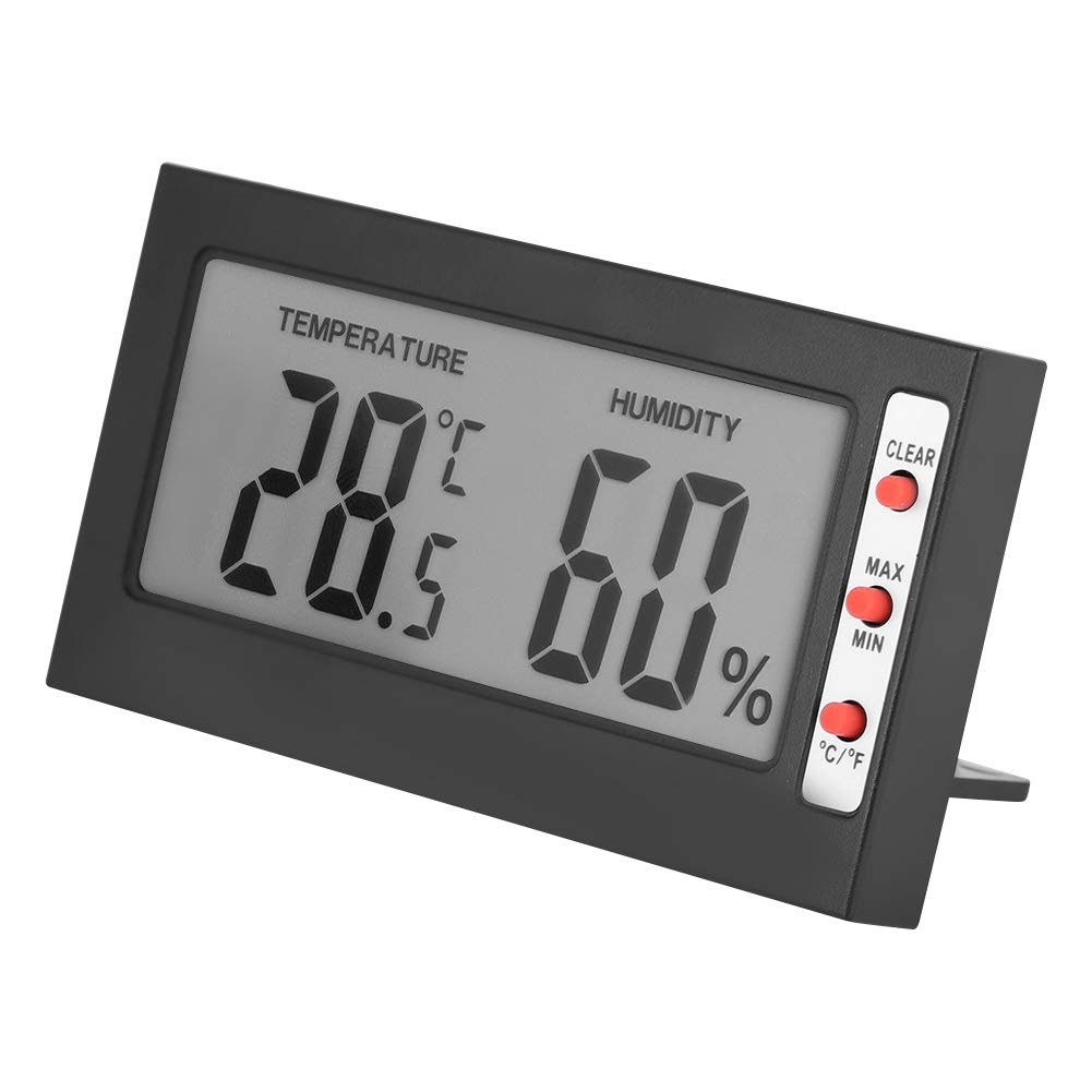 Humidity Gauge Room Thermometer Indoor,Portable Digital LCD Thermometer Hygrometer Humidity Monitor Meter for Warehouse, Home, Office 0~50℃ 10% RH~99% RH