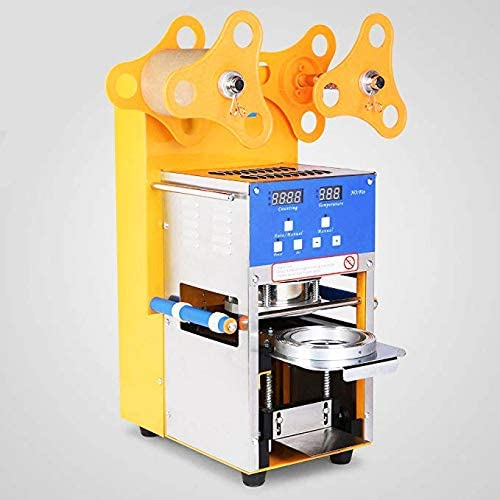 ZY-QF08 Fully Automatic Plastic Paper Cup Sealer Sealing Machine for Bubble Milk Coffee Smoothies Tea Cup 400-600 cups/hr 400W (220V)