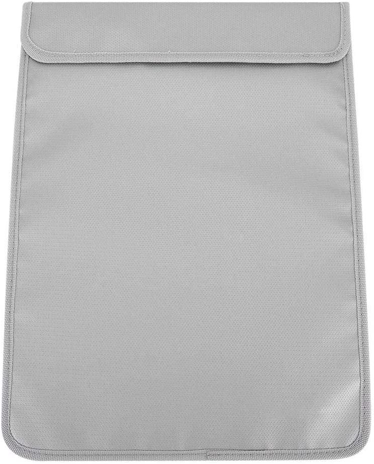 wosume Waterproof File Bag, Folding Zipper Waterproof Fire-Proof Bag File Document Storage Organizer 38 x 28cm