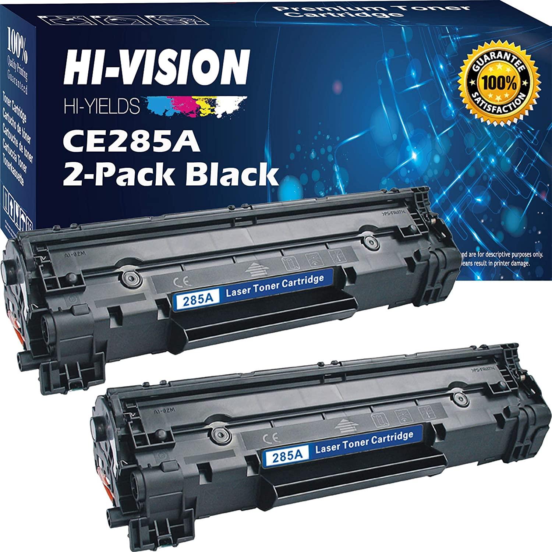 (2-Pack) HI-VISION HI-YIELDS Compatible Black Toner Cartridge Replacement 85A CE285A 35A CB435A 36A CB436A, Used in HP Laserjet Pro P1102w P1109w M1212nf M1217nfw P1005 P1006 M1212nf M1217nfw