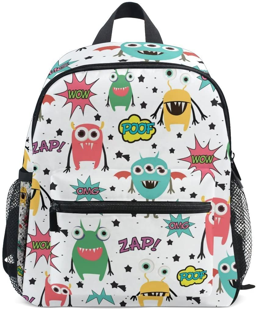 Cute Kids Toddler Backpack Monsters And Balloons Children Bag