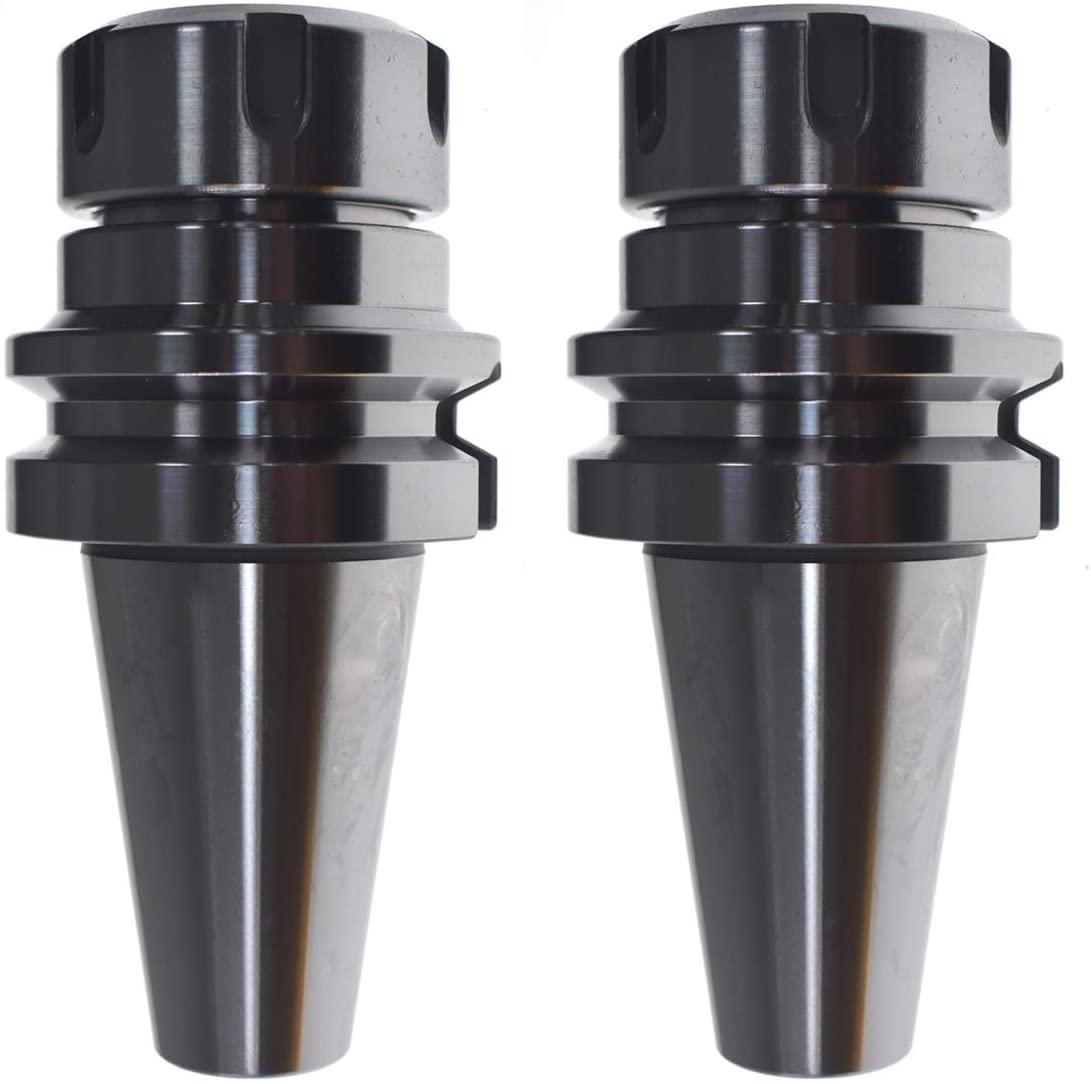 HGC 2pcs BT40 ER32 70mm Shank Holder Collet Chuck Sliver Tool Holder For CNC Milling