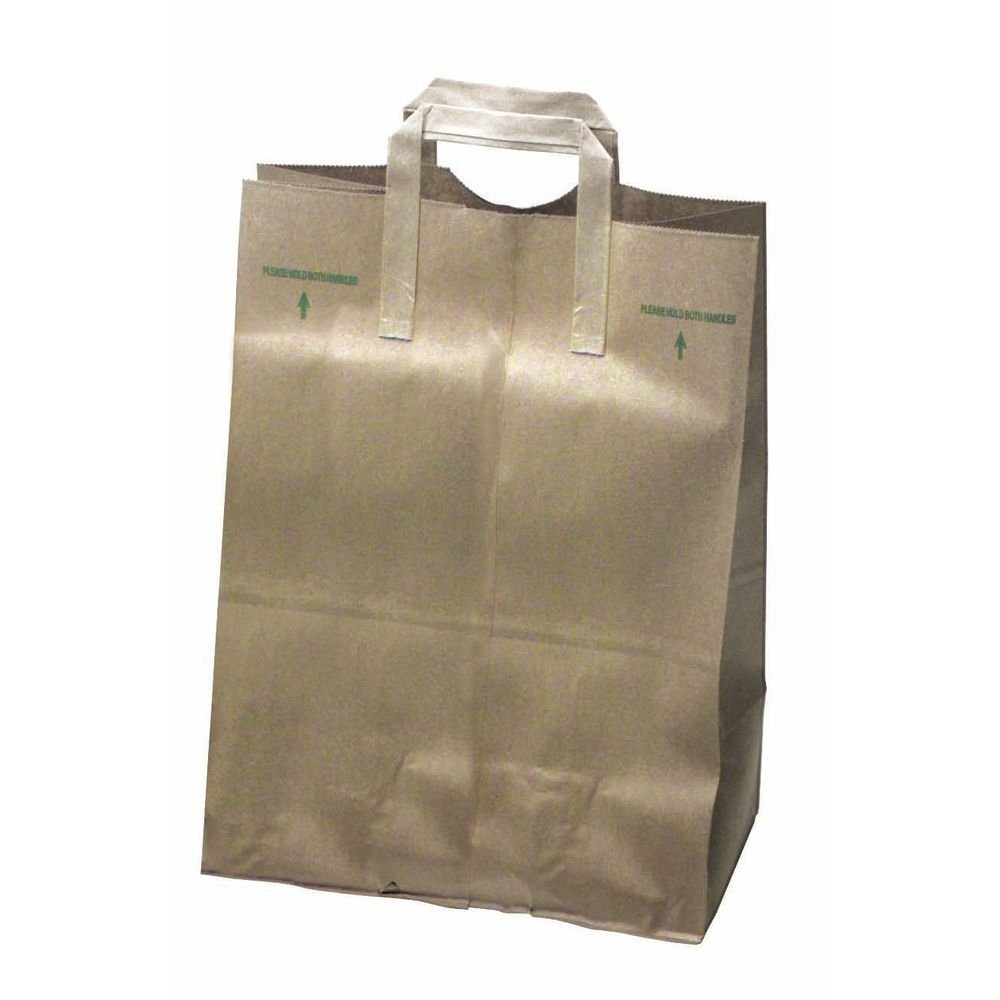 Kraft Paper Grocery Sack with Handle 1/6 Barrel 70 lb Heavy-Duty Natural -12