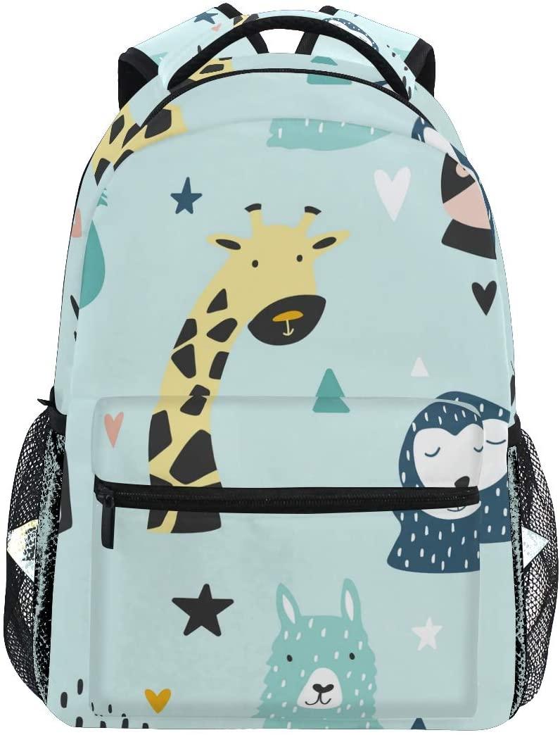 School Backpack Koala and Llama Bookbag for Boys Girls Teens Casual Travel Bag Computer Laptop Daypack