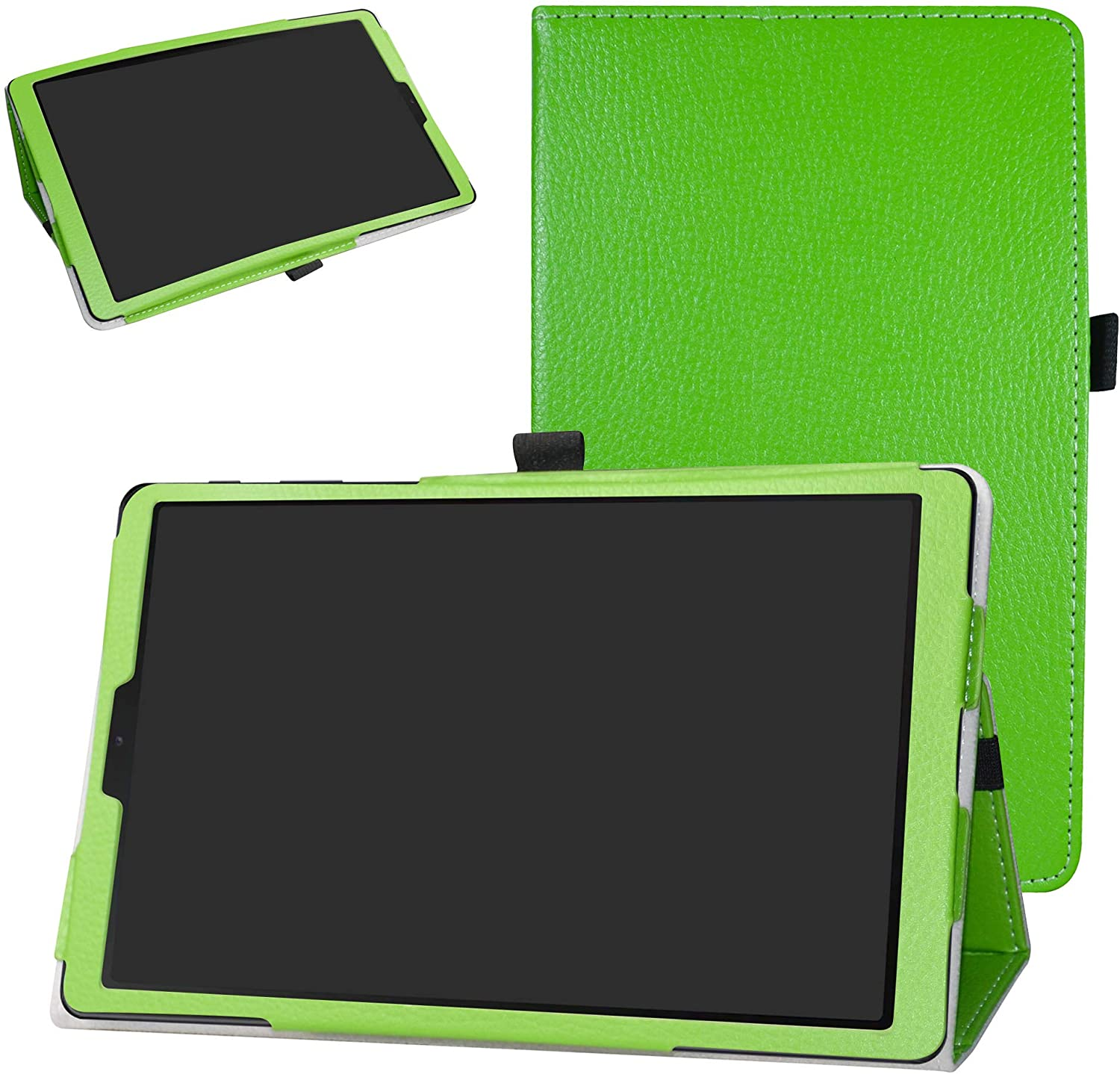 Galaxy Tab A 10.1 2019 Case,Bige PU Leather Folio 2-Folding Stand Cover for 10.1