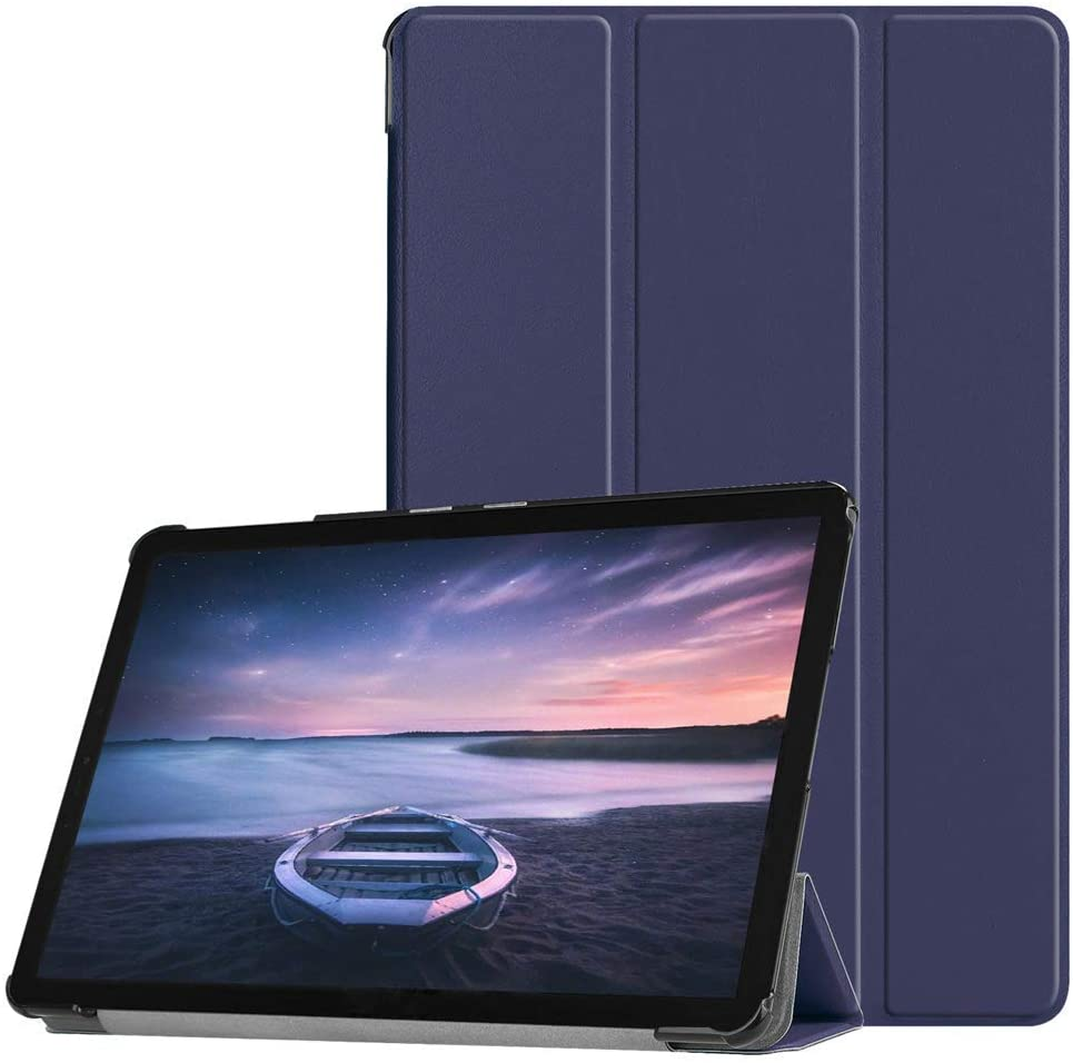 Folding Case for Galaxy Tab S4 10.5 (2018), EpicGadget Auto Sleep/Wake Tri-fold Stand Ultra Lightweight Slim Cover PU Leather Case for Samsung Galaxy Tab S4 10.5 (T830/T835) 2018 (Navy Blue)