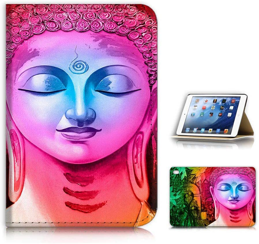 for iPad Mini, fit All ipad Mini 1 2 3 4 5 Generations, Fashion Designed Flip Case Cover, A23151 Abstract Buddha 23151