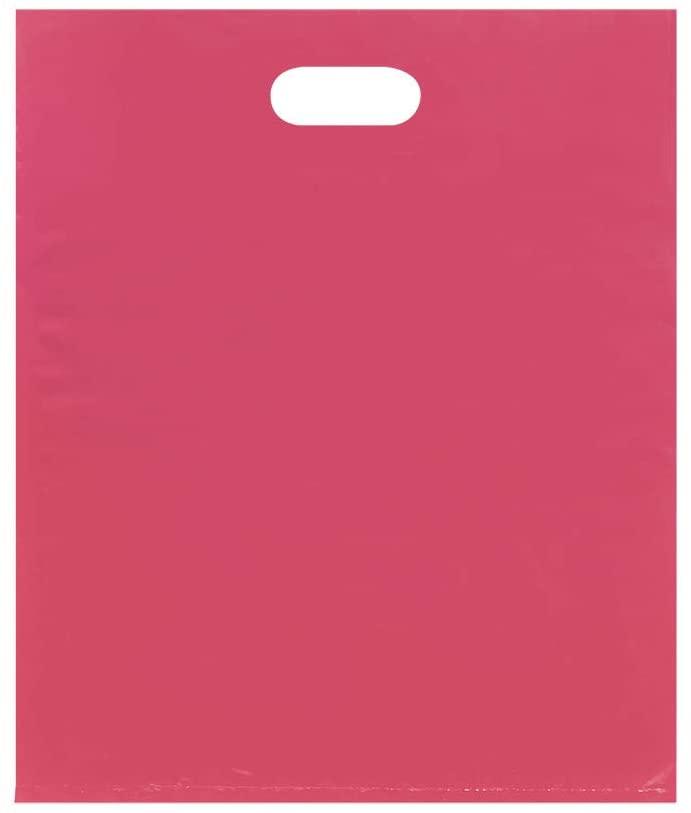 "SSWBasics Large Low Density Pink Merchandise Bags - 15""W x 4""D x 18""H - Case of 500"