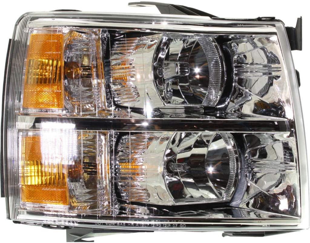 For Chevy Silverado 2500/3500 HD Headlight 2007-2014 Passenger Side Composite   Halogen - CAPA   GM2503280   22853028