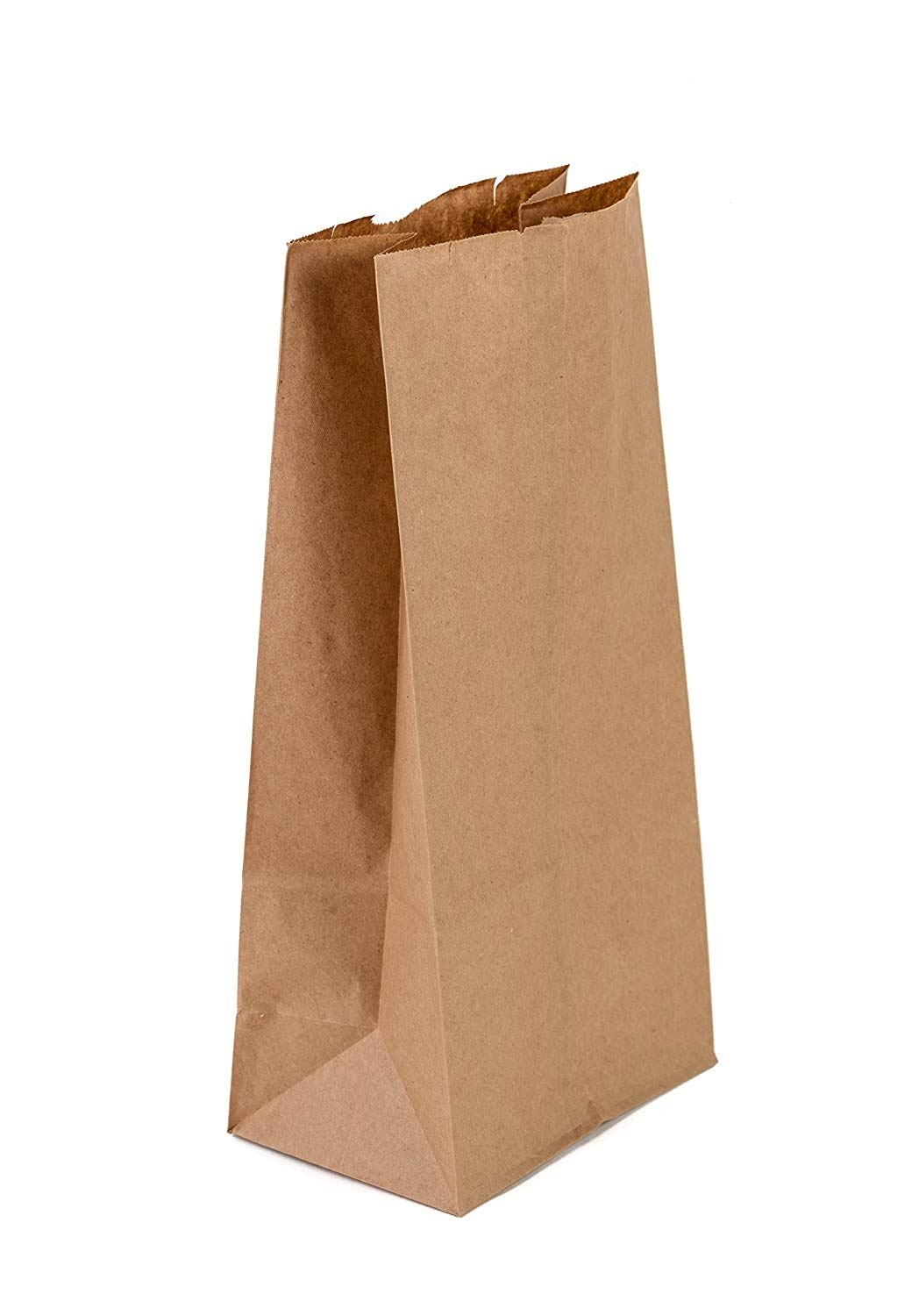 (#6-500 pcs) Kraft Brown Paper Bags Reusable Grocery Bags Great Gift Bag Recyclable Shopping Bags Lunch Snack Bags Size (6.0