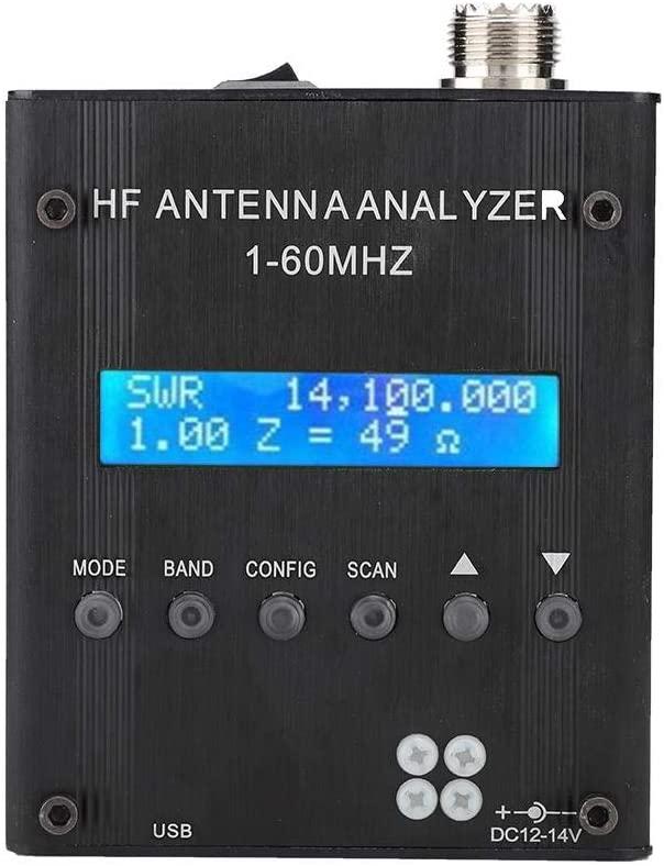 ASHATA Shortwave Antenna Meter, MR300 Bluetooth Digital Shortwave Antenna Analyzer RF 1-60MHz 2.0V pp(Typical) Adjustable for Ham Radio
