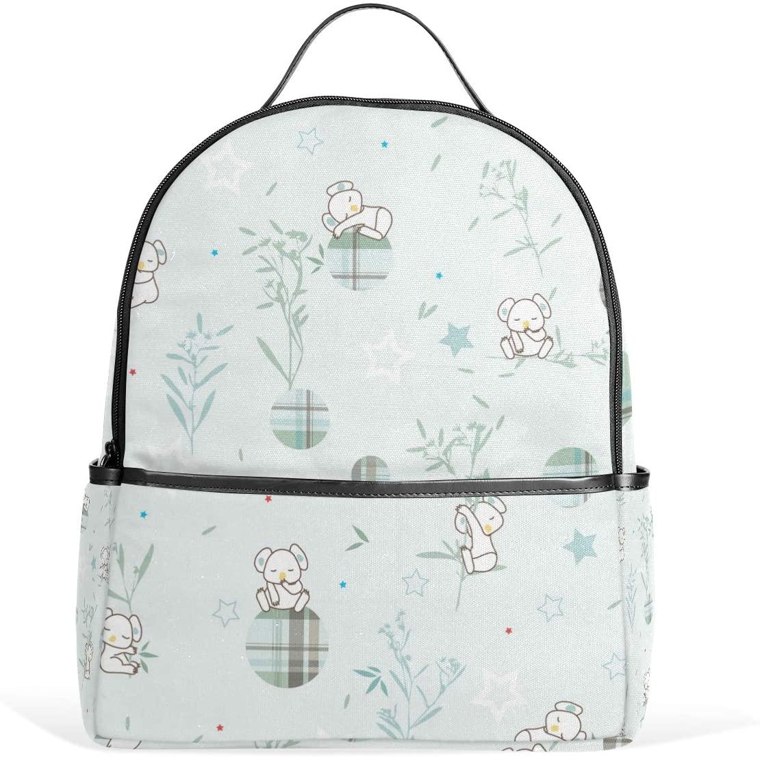 Kids' School Backpack Sleeping Koala Bookbag for Boys Girls Lightweight Casual Travel Bag Large Capacity Daypack