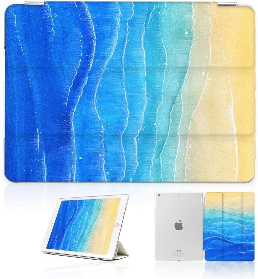 for iPad Mini 5, iPad Mini 4, Designed Smart Case Cover, SMART40044 Beach Blue Sea 40044