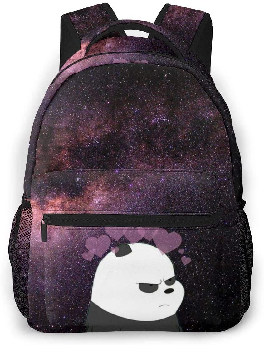 Fashion Backpack for Girls Boys Panda Galaxy Print Cute School Bag Bookbag Daypack