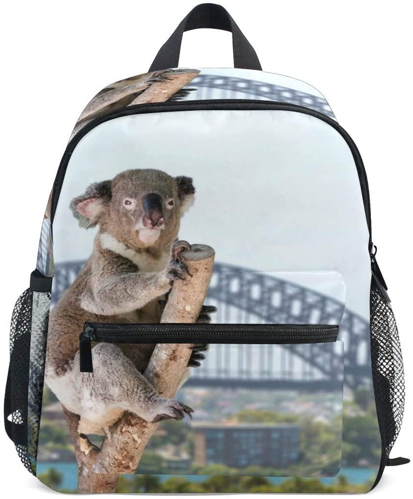 OREZI Cute Kids Backpack, Koala On His Tree Toddler Schoolbag Preschool Bag Travel Bacpack for Little Boy Girl