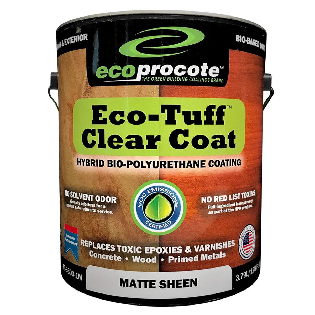 Eco-Tuff Clearcoat Concrete Sealer and Wood Floor Sealer   Polyurethane Countertop Sealer (1 Gallon, Matte)