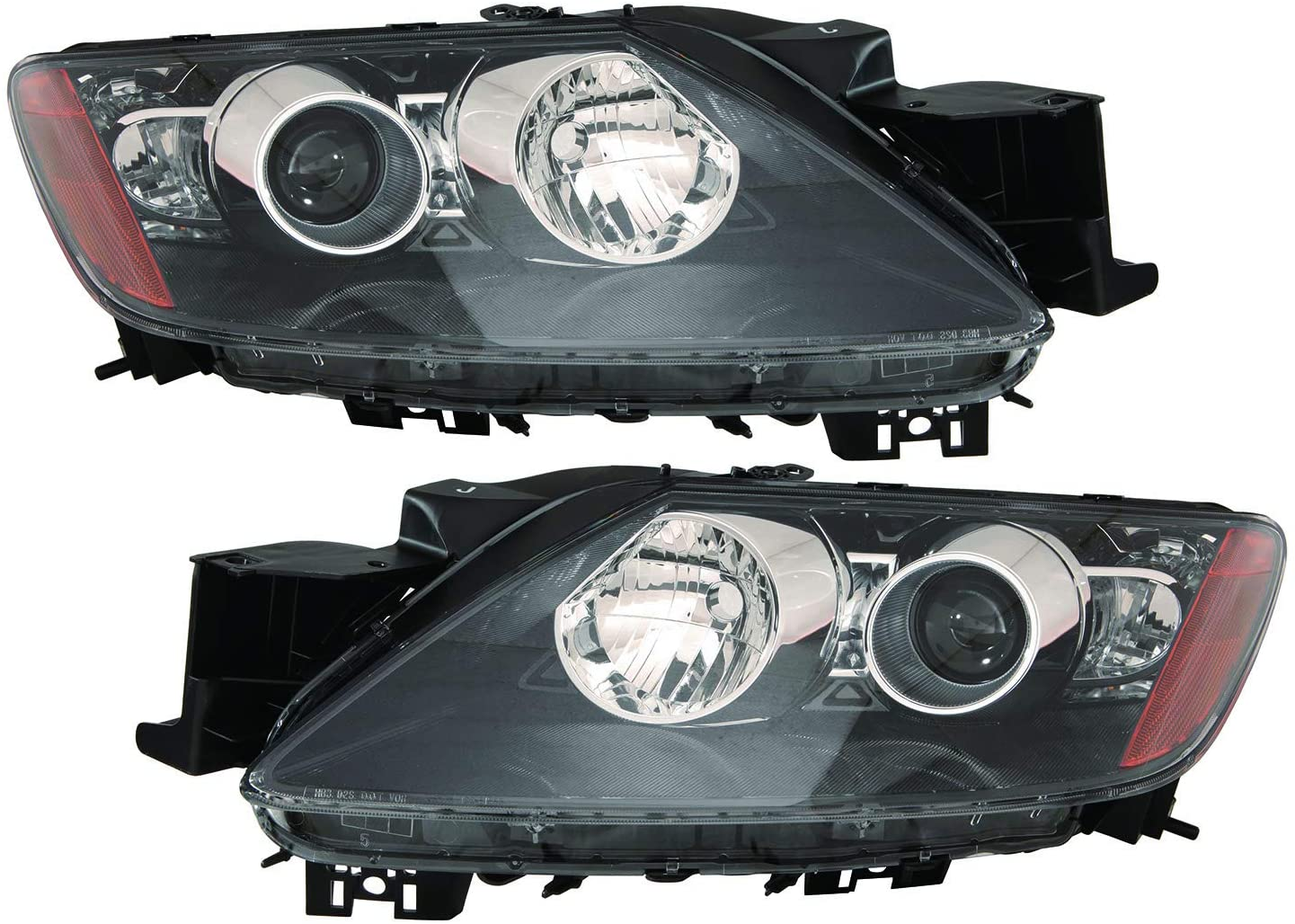 JP Auto Headlight Compatible With Mazda Cx7 2008 2009 Driver Left And Passenger Right Side Pair Set Headlamp