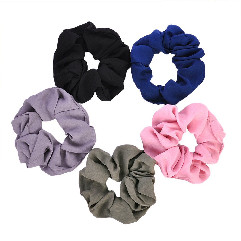 FRCOLOR 5 Pcs Hair Scrunchies Hair Bobbles Elastic Hair Scrunchy Hair Bands for Girls Women