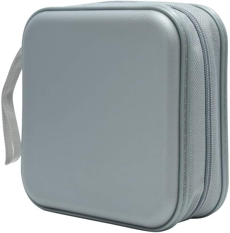 Siveit CD Case, 40 Capacity CD DVD Heavy Duty Wallet Storage Organizer Holder VCD Binder Bag Album Booklet (A-Silver)