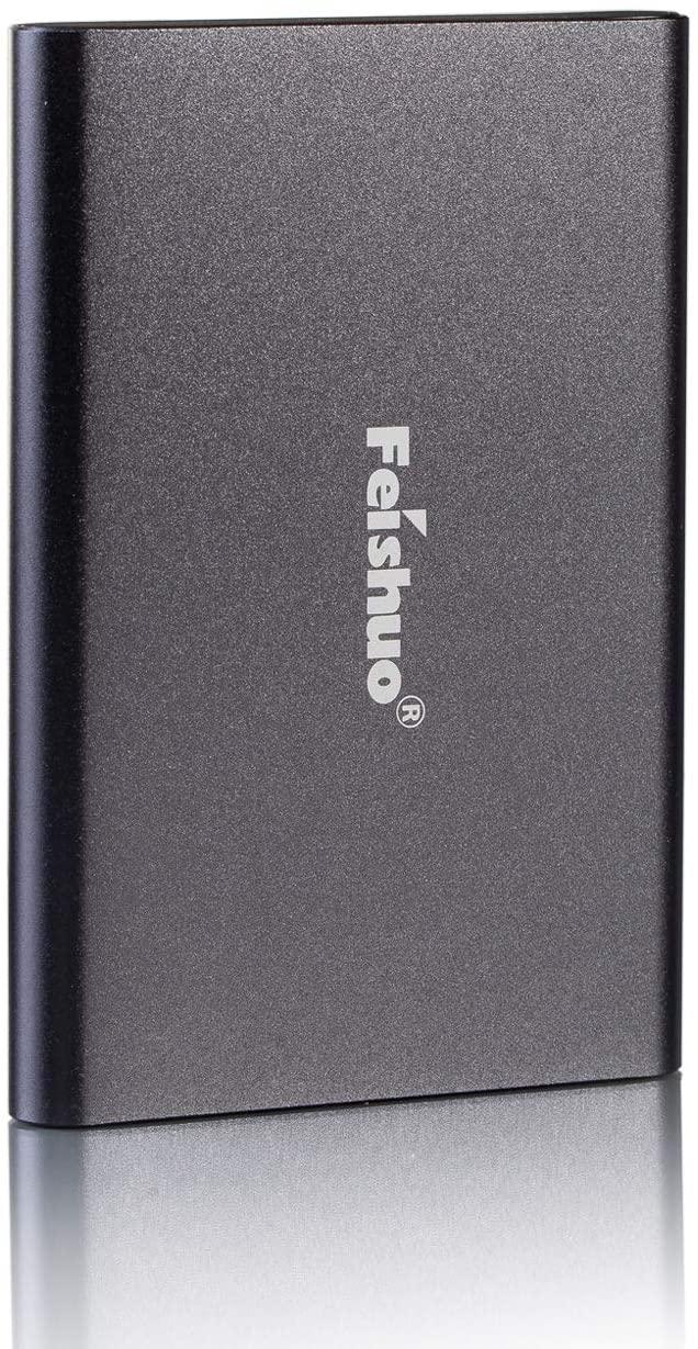 Portable External Hard Drive USB3.0 SATA HDD Storage (250G, Gray)