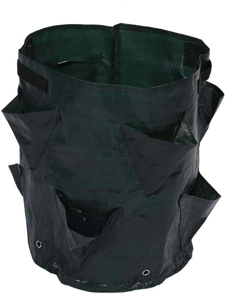 Planter Grow Bag, Outdoor Garden Herb Container Plant Garden Planter Bags with 8 Side Pockets