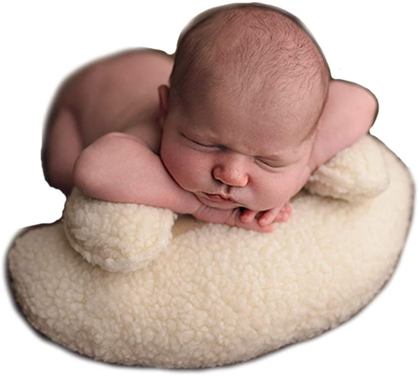 CUTEBBPHOTO Newborn Pillow Prop Professional Baby Photo Posing Aid Pillow Photograph Shoot Set Infant Soft Positioner Pillow Mat for Contoured Posing
