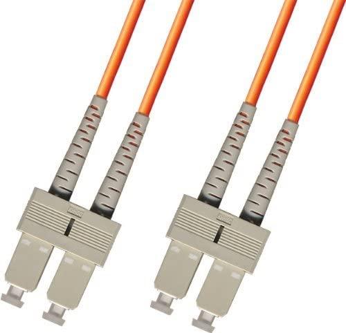 3 Meter OM1 Multimode Duplex Fiber Optic Cable (62.5/125) - SC to SC - Orange