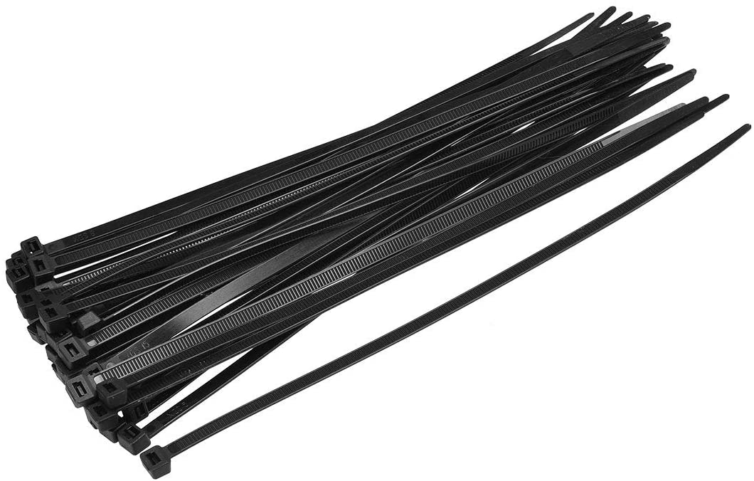 uxcell 150pcs Cable Zip Ties 10 Inch x 0.22 Inch Self-Locking Nylon Tie Wraps Black