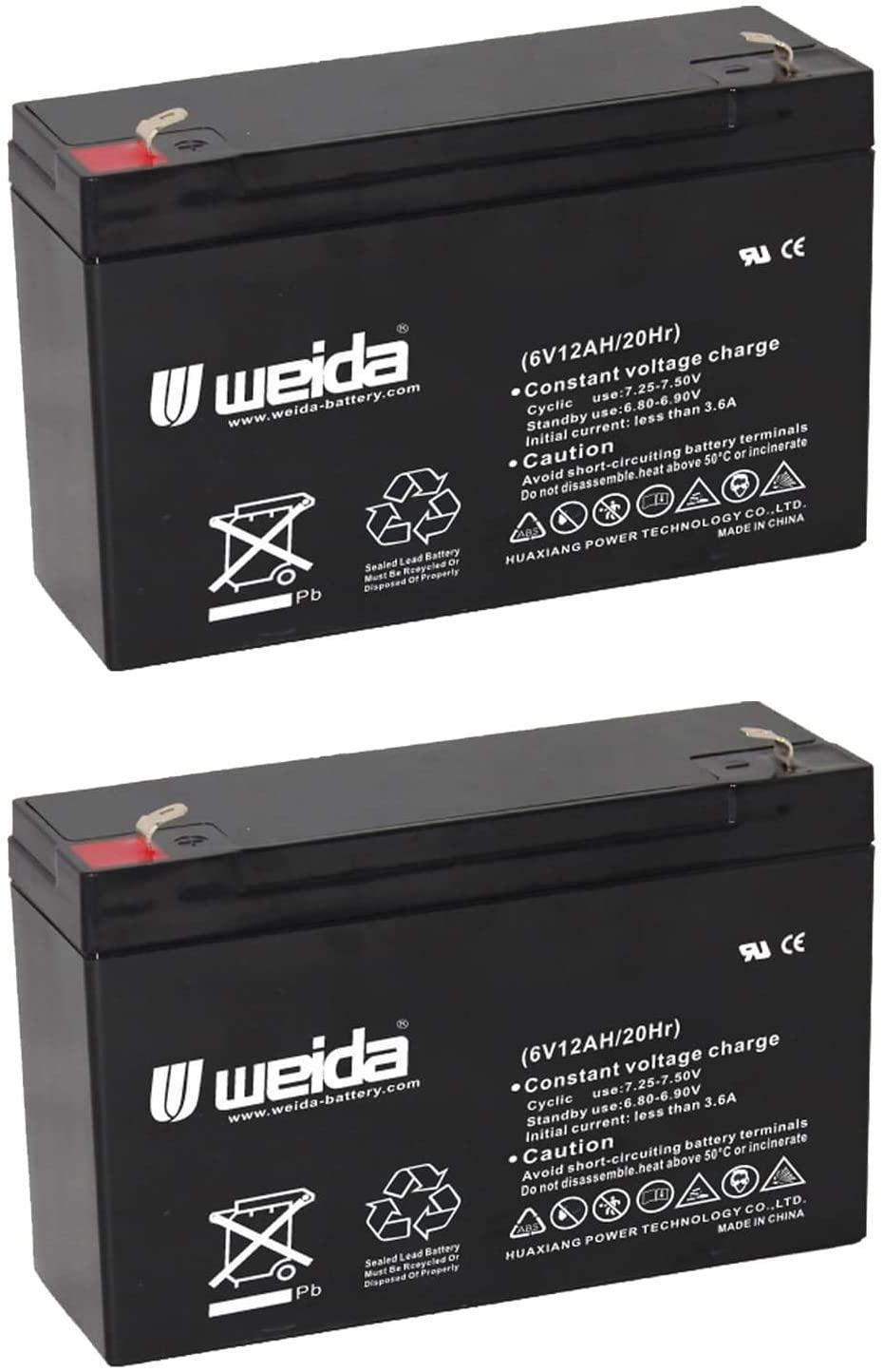 6V 12Ah SLA Battery Rechargeable SLA Replace UB6120, D5778, PS6100 Fast USA Ship