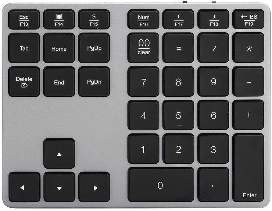 CiCiglow Numeric Keypad, Mini Wireless Bluetooth Rechargeable Numeric Keypad for Windows/Android/Windows 10.