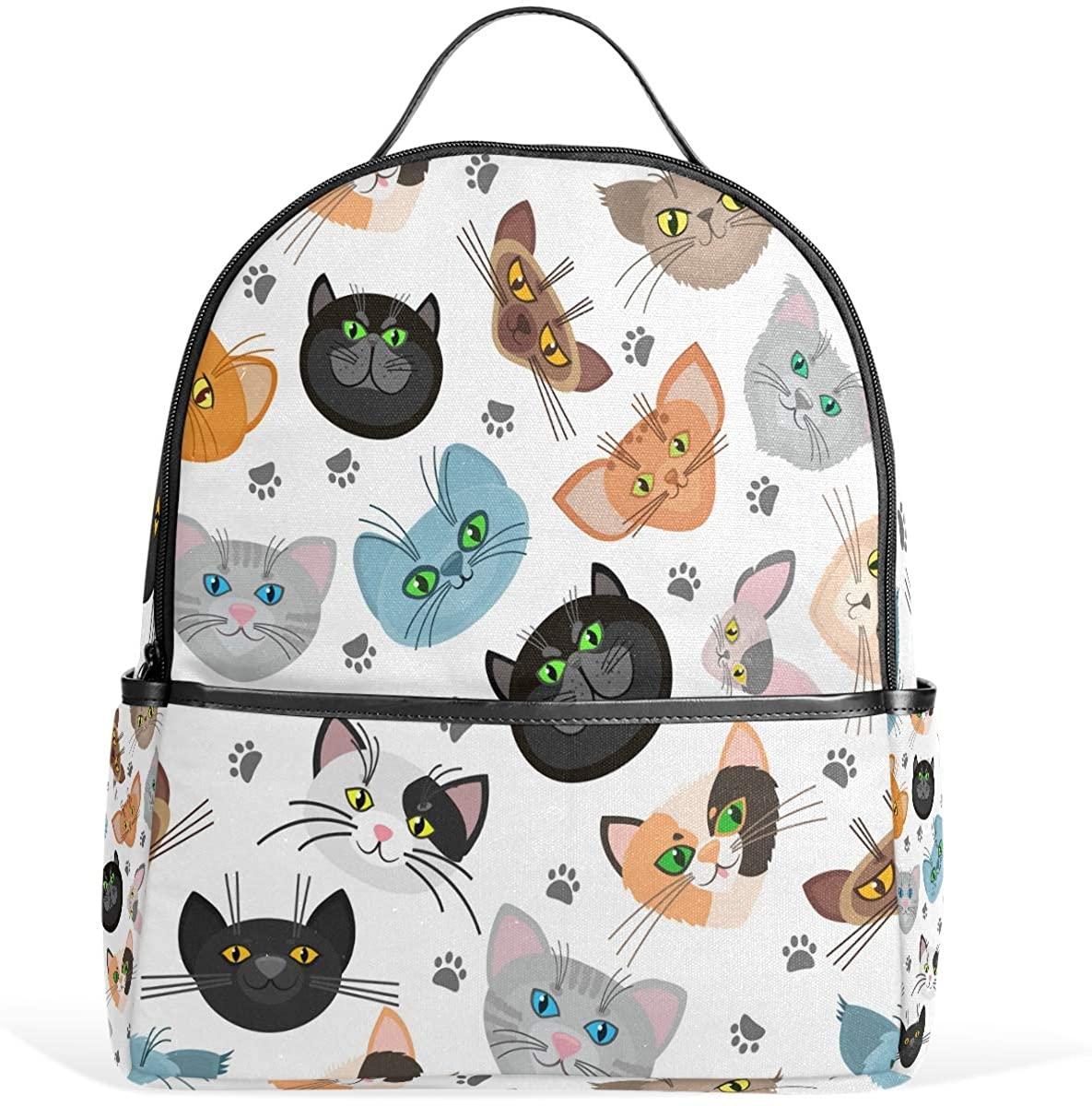 Olinyou Colorful Cute Cat Paw Cartoon Animal Kitten Foot Backpack School Book Bag Daypacks Shoulder Bags Rucksack for Boys Girls Students