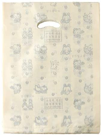 Muellery Beige Plastic Glossy Merchandise Bags Packaging Shopping Bags Gift with Handles, 10.6x14.6 inch, 27x37 cm, 100pcs TPAK21006