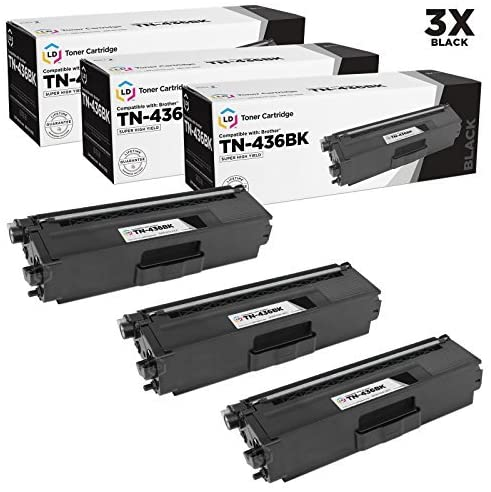LD Compatible Toner Cartridge Replacement for Brother TN436BK Super High Yield (Black, 3-Pack)