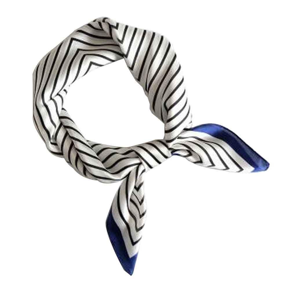 Silk Scarf Head Scarf Handbag Scarf Square Scarf for Ladies [J]