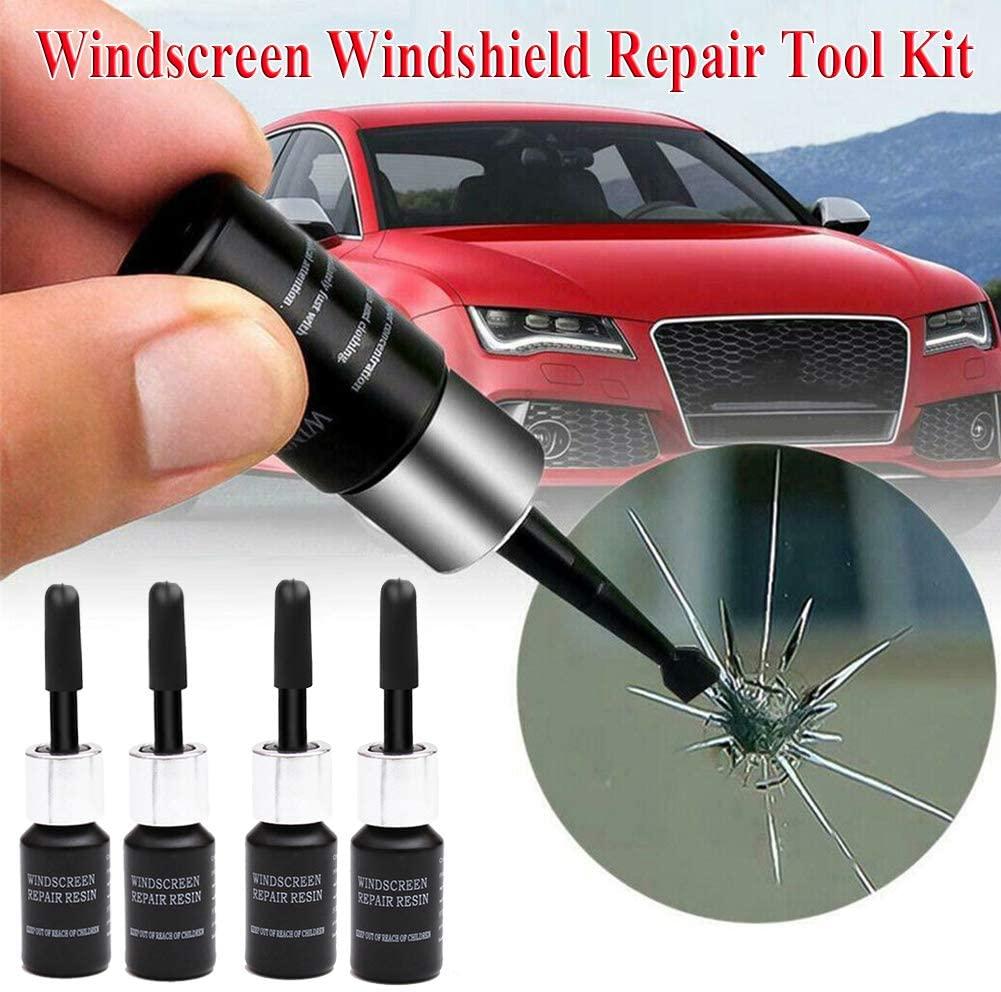Lovelychica Automotive Glass Nano Repair Fluid,Car Window Glass Crack Chip Resin Windscreen Windshield Repair DIY Tool Kit (1set)