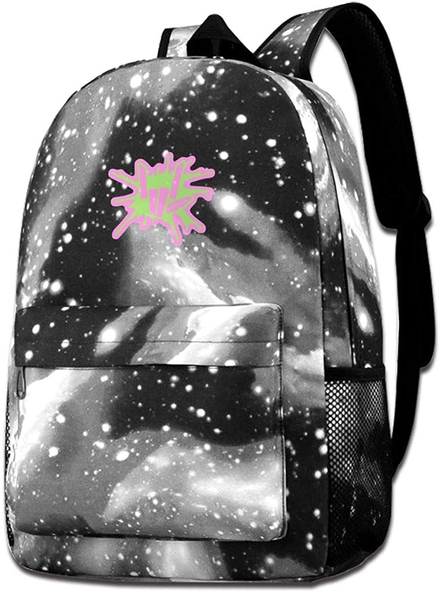 Galaxy Printed Shoulders Bag Share The Love Fashion Casual Star Sky Backpack For Boys&girls