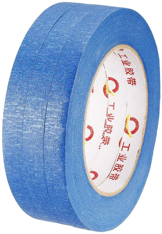 uxcell Blue Painter Tapes,0.47 inchx55 Yards,3 Roll,Craft Paper Tape,Teacher Tape,for Art,Decorating,Pianting