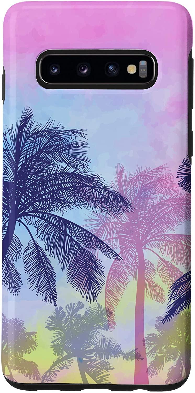 Galaxy S10 Palm Trees Sunset Tropical Paradise Beach Coconut Palm Tree Case