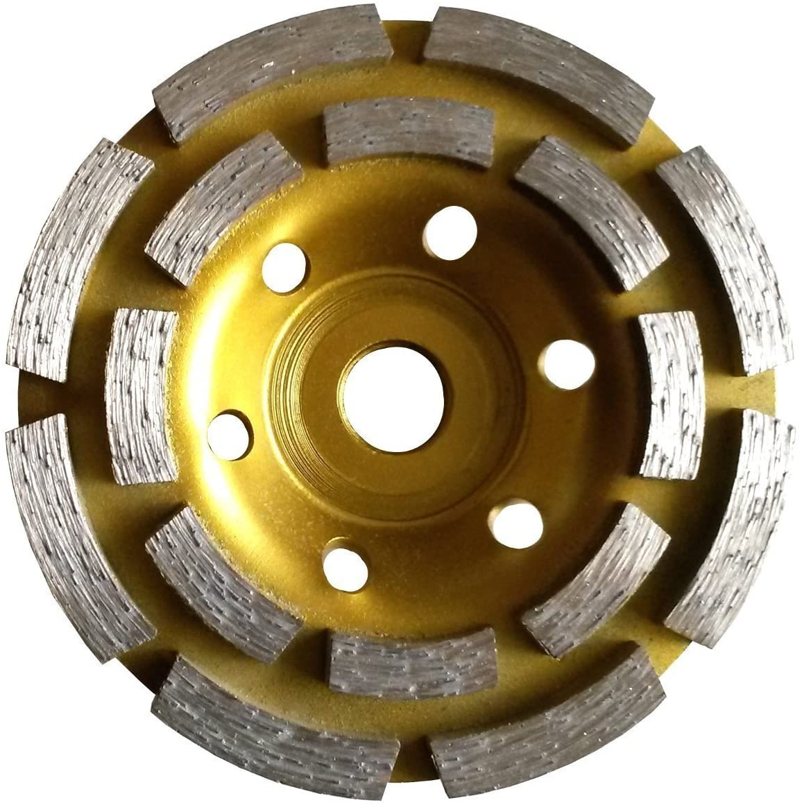 7 Inch (pack of 2 Pieces) Diamond Double Row Grinding cup wheel 28 segment for concrete stone birck cement surface grinding coating paint remove mortar leveling heavy duty abrasive wheel sanding disc