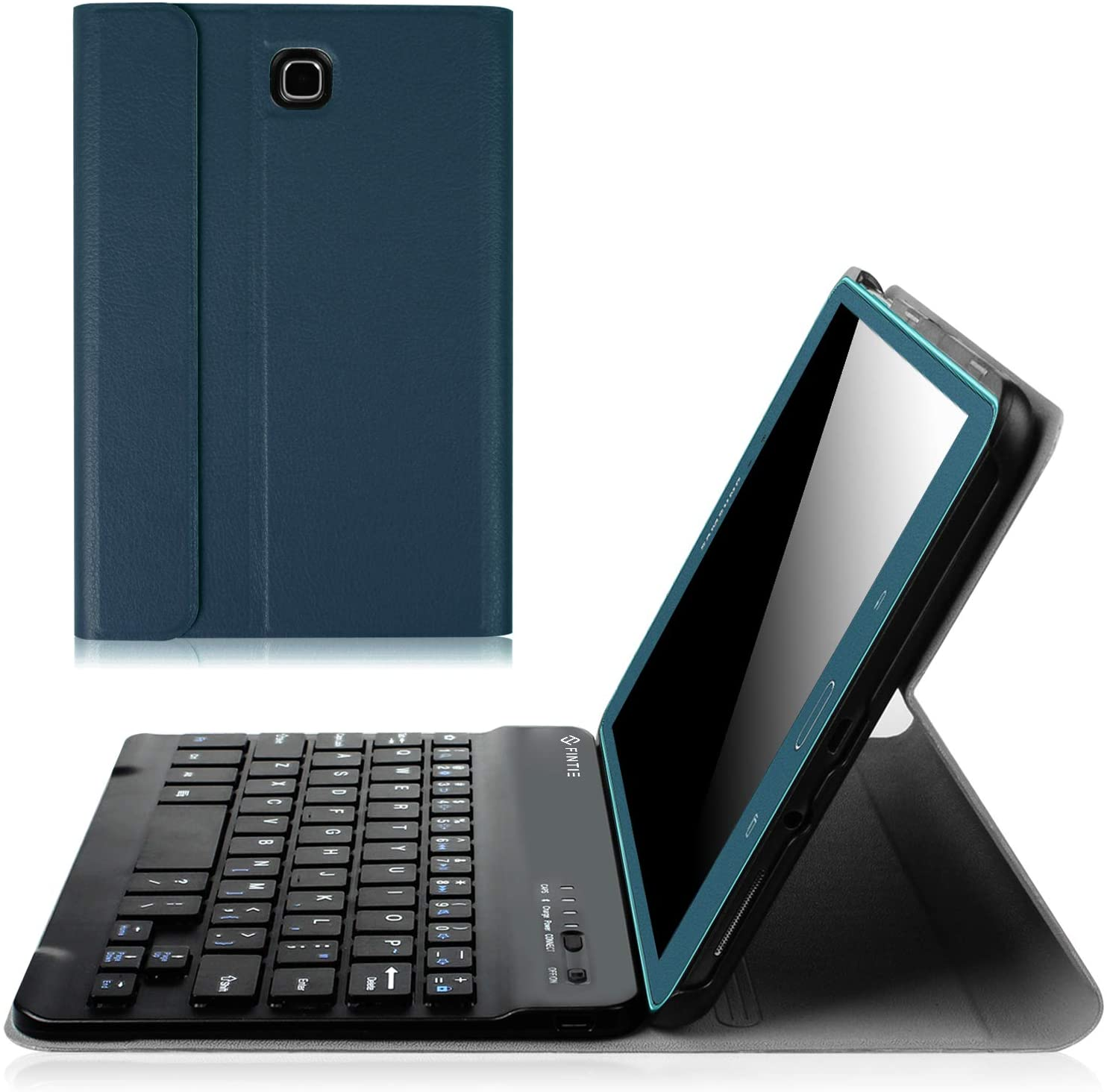 Fintie Keyboard Case for Samsung Galaxy Tab A 8.0 (2015), Slim Shell Stand Cover w/Magnetically Detachable Bluetooth Keyboard for Tab A 8.0 SM-T350/P350 2015 (NOT Fit 2017/2018 Version), Navy